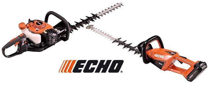 Cortasetos Echo a Gasolina, eléctricos y a batería