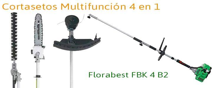 Florabest FBK 4 B2 multifunción, cortasetos, motosierra y desbrozadora